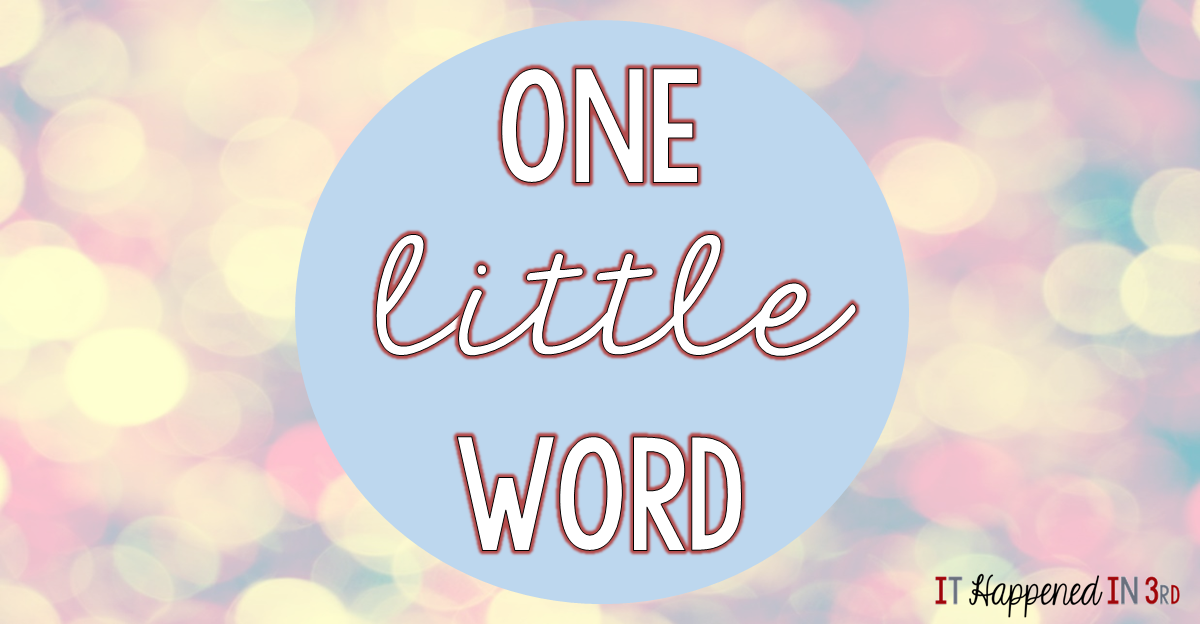 "What's your ""one little word"" this year? Click over to find out mine and why I chose it!"