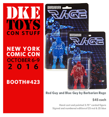 New York Comic Con 2016 Exclusive Star Wars x TRON Red Guy & Blue Guy Bootleg Resin Figures by Barbarian Rage x DKE Toys