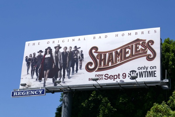 Shameless season 9 Bad Hombres billboard