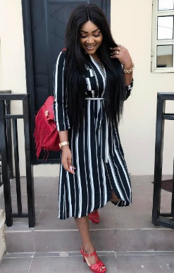 Mercy Aigbe & Daughter Rock Same Outfit
