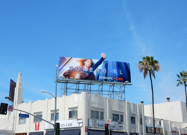 Supergirl TV series billboard