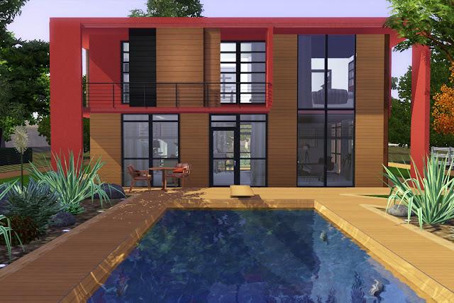 villa luxe sims 3 avec piscine