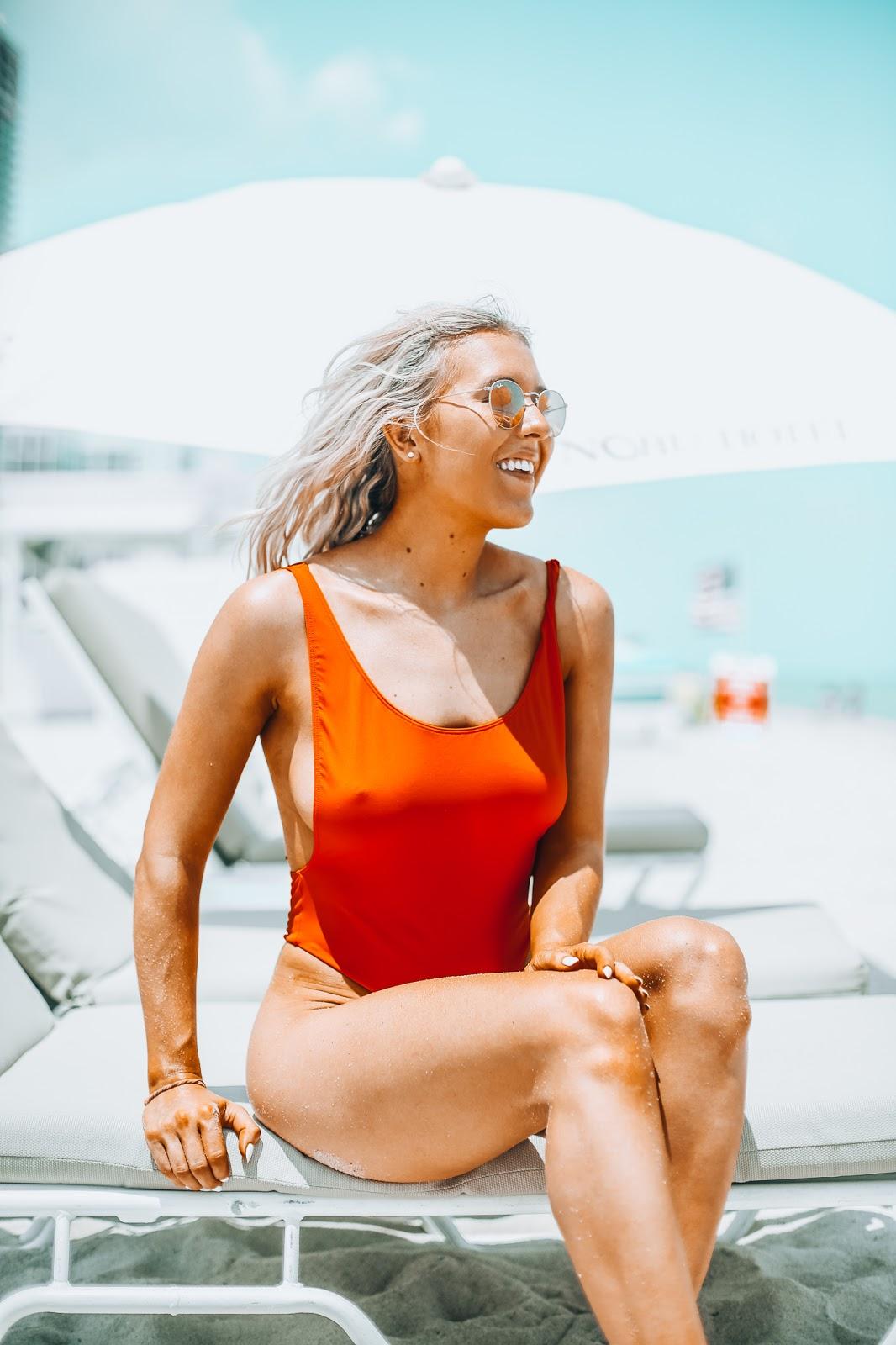 red asos bikini