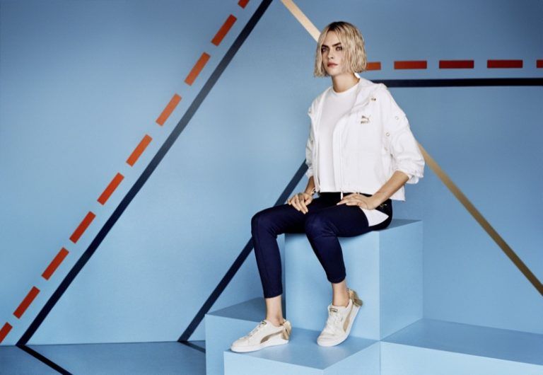 Cara Delevingne for PUMA Suede Bow Varsity Sneaker