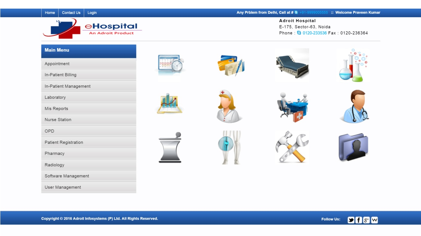 hospital management software abstract We provide the best patient care with our integrated healthcare & clinic management system aarogya, a unified solution in healthcare/hospital management systems (hmis) for large to mid sized hospitals and polyclinics facilitates managing the functioning of the whole hospital day to day activities.