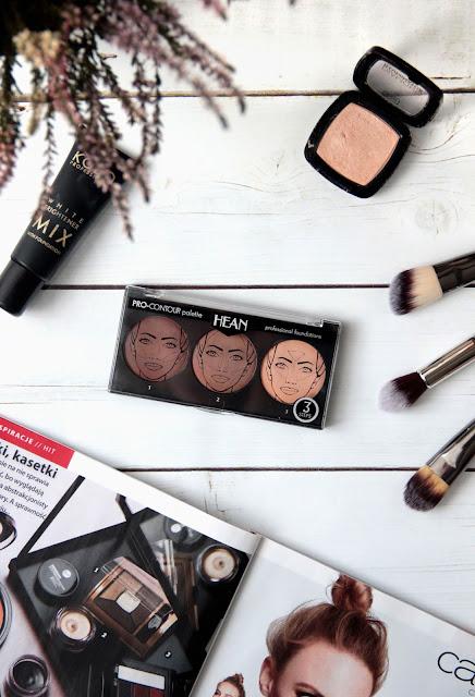 Konturowanie dla początkujących czyli zestaw do konturowania twarzy | Hean PRO-Contour palette