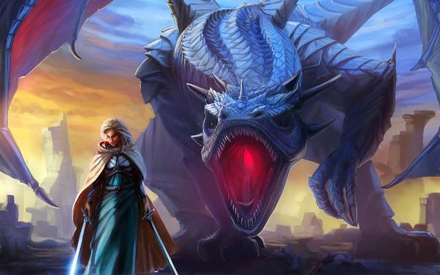 Papel de Parede Dragão Ilustração Arte para pc hd grátis Dragon desktop hd wallpaper image free