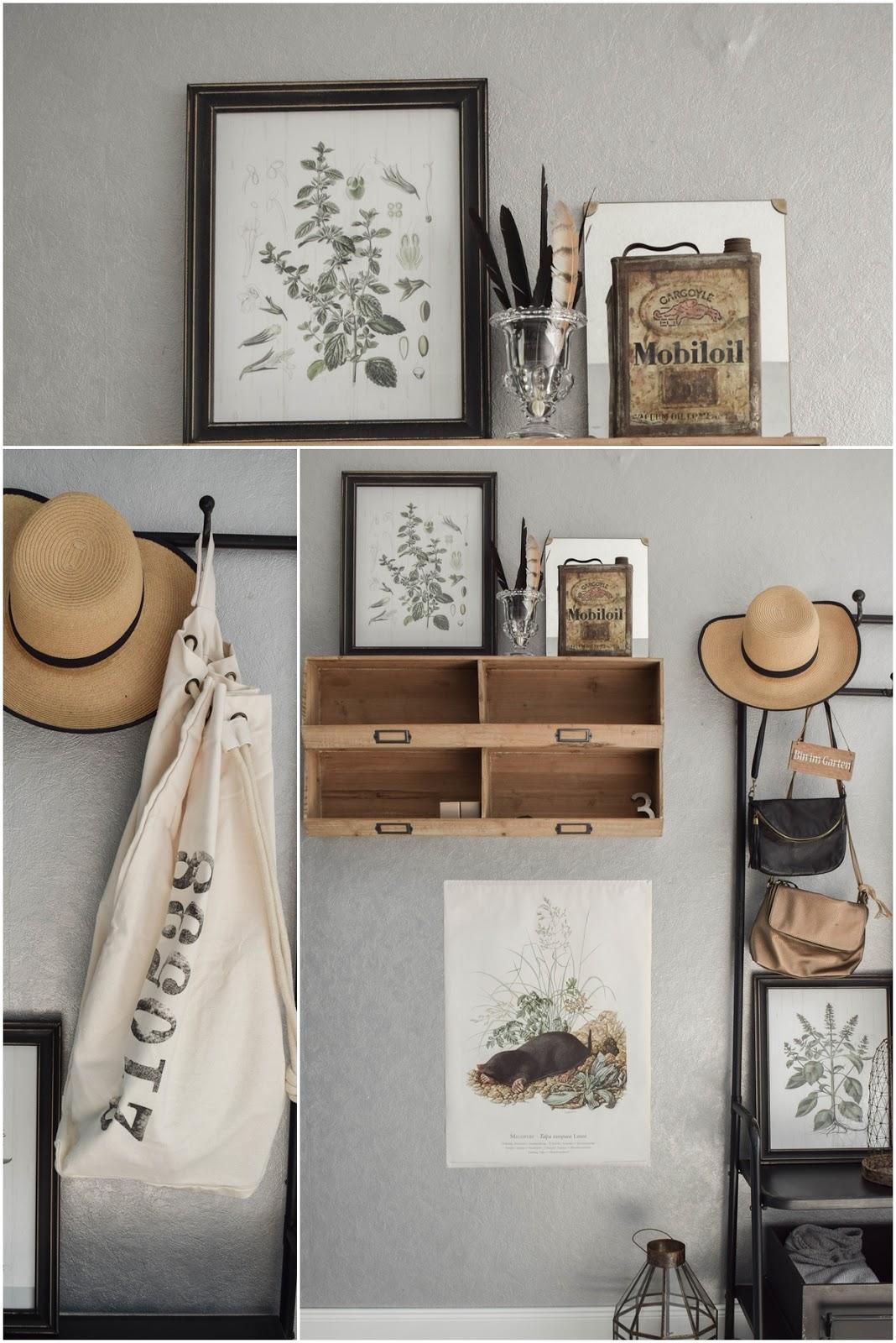 Garderobe Diele Flur Eingangsbereich Deko Dekoidee Interior Einrichtung WENKO Wäschesammler Wäschesack Aufbewahrung Werbung 3