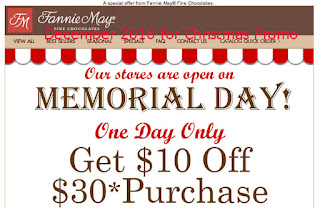 free Fannie May coupons december 2016