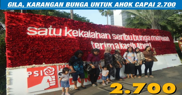Wow, Karangan Bunga Di Balai Kota Kini Mencapai 2.700 Buah !!