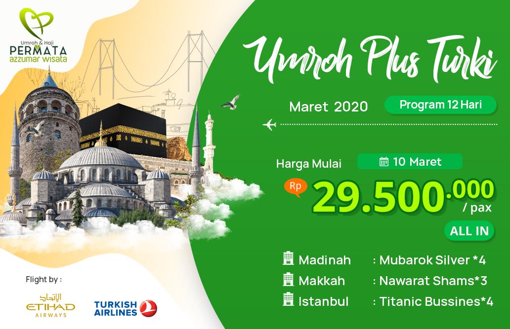 Biaya Paket Umroh maret 2020 Plus Turki Murah