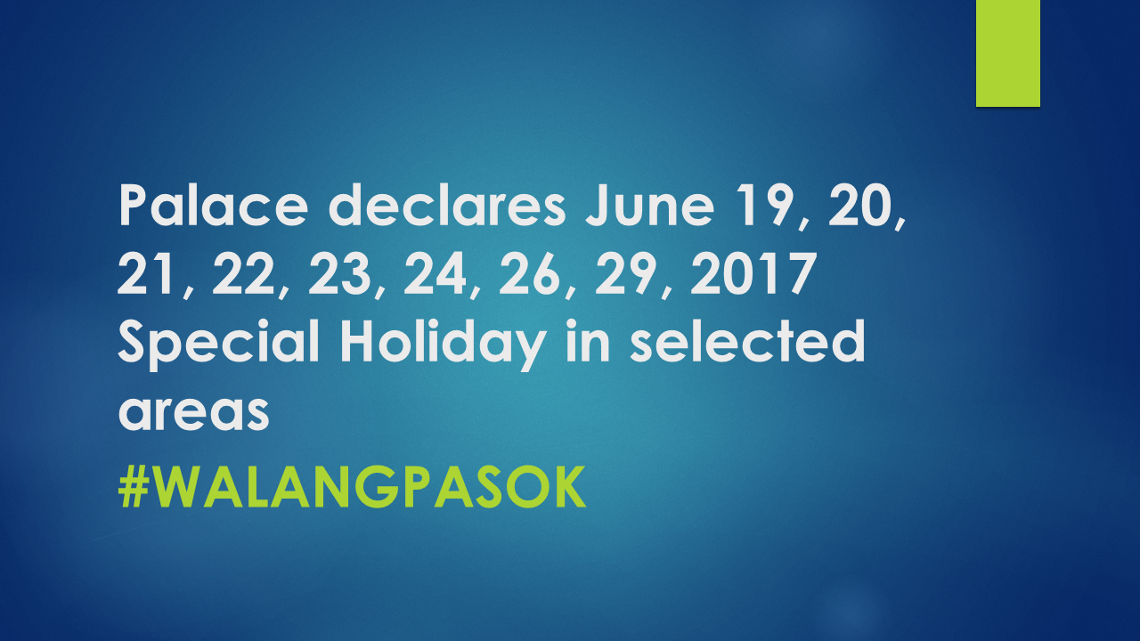 Image Result For Walang Pasok June