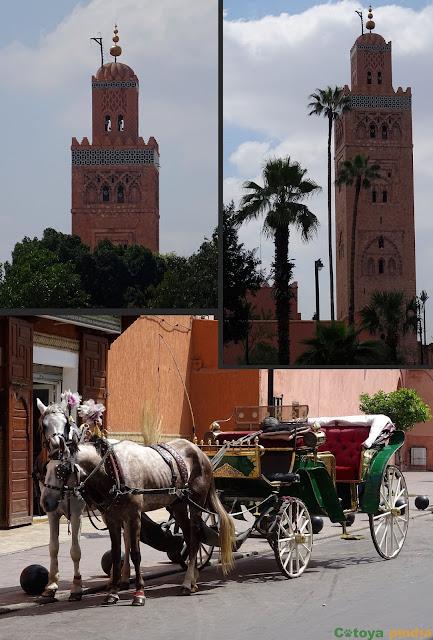 Vistas hacia La Koutoubia de Marrakech