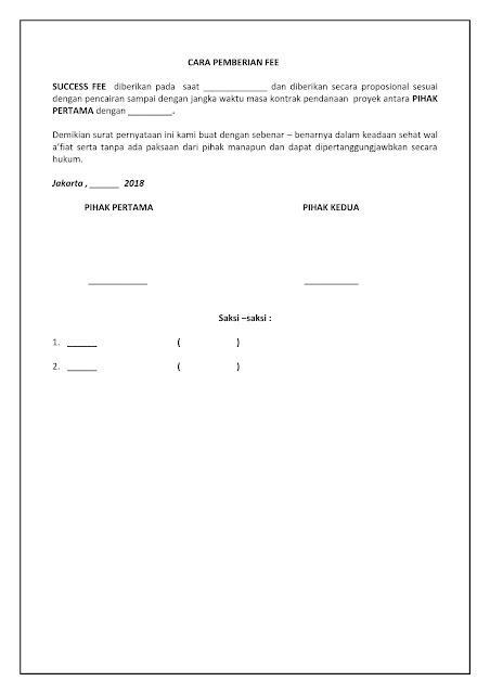 Sisurat Contoh Surat Pernyataan Komitmen Fee Komisi Imbalan 2018