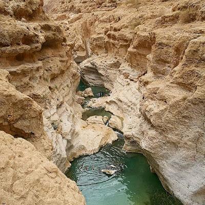 Pozas de agua en Wadi Shab, Omán