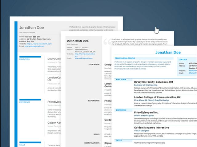 تحميل سيرة ذاتية جاهزة عمل CV إحترافي مع أفضل المواقع المجانية