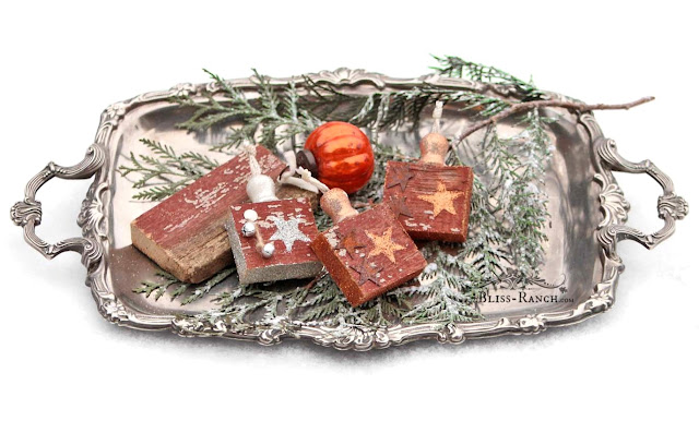 Scrap Wood Ornaments, Bliss-Ranch.com