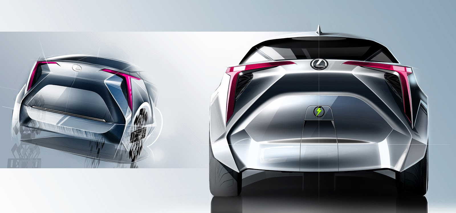 Lexus Three Wheeled Revolution Concept By Sanjay Urikoth Motivezine Car Sketch Initial Exploration