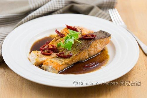 香煎三文魚扒配黑醋汁 Pan-Fried Salmon in Balsamic Sauce02