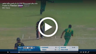 Wahab Riaz dismiss David Warner