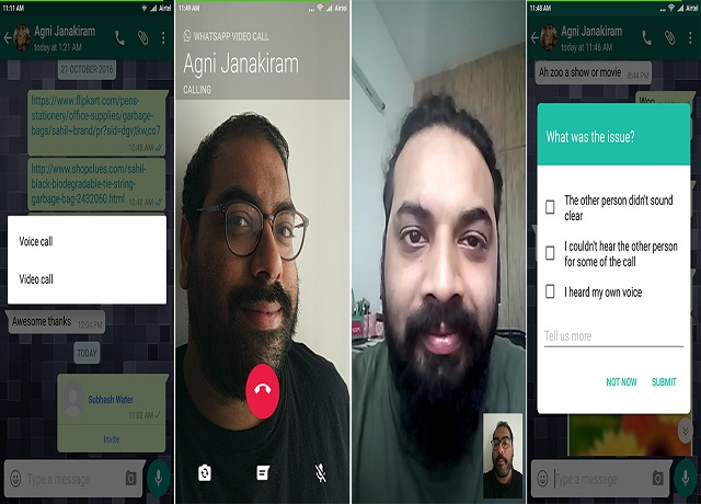 Contoh Whats App Video Call