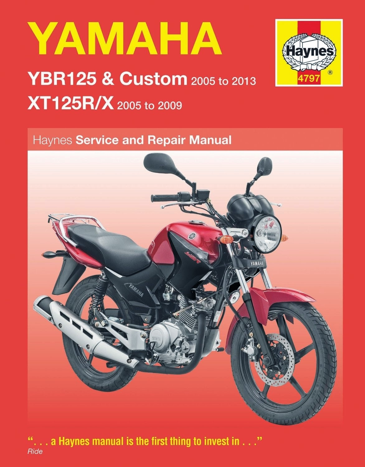 need a haynes workshop service manual for you yamaha ybr 125 / xt 125 why  not buy it from here , its probably the cheapest anyway and you support the  blog .