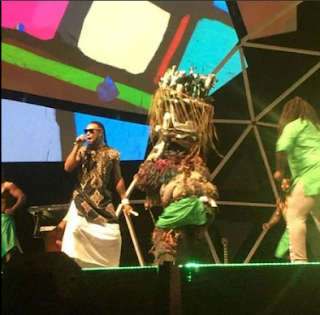 GLOCAFAWARDS2016!! MUSICIAN FLAVOUR STORMS STAGE WITH IJELE MASQUERADE (PHOTOS)