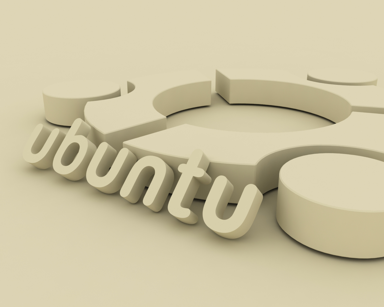 Desktop Wallpaper: 3D Ubuntu Logo HD Wallpaper