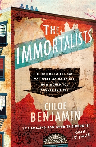 Book cover for Chloe Benjamin's The Immortalists in the South Manchester, Chorlton, and Didsbury book group
