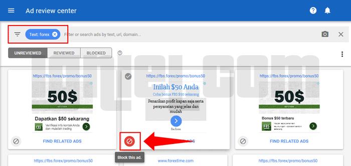 Cara Blok Iklan AdSense Yang Tidak Diinginkan