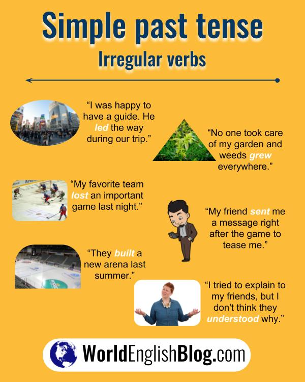 English irregular verb examples