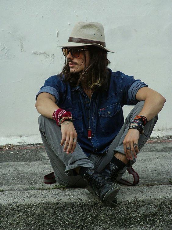Look Estilo Rock Masculino com Bandana