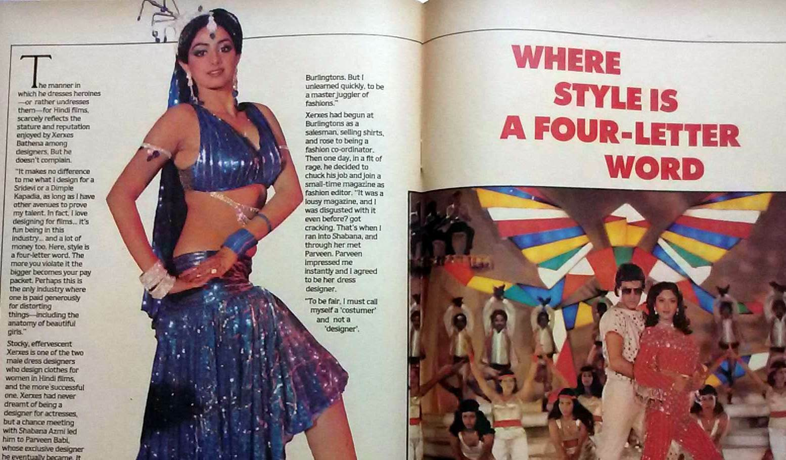 Sridevi Where Style Is A Four Letter Word Fashion In Bollywood With Xerxes Bathena