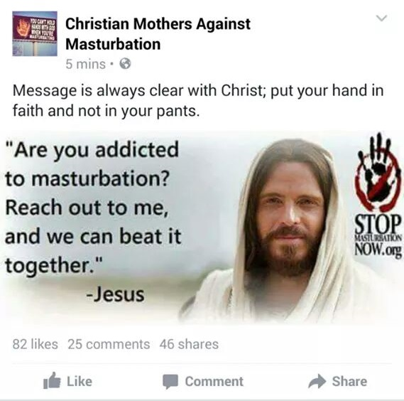 Christian Mothers Against Masturbation Fail Picture