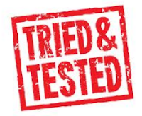 "Just an image of the words saying ""Tried and Tested"