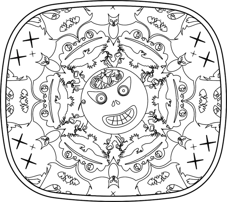 Bindlegrim (Holiday Artist and Author): Color your own