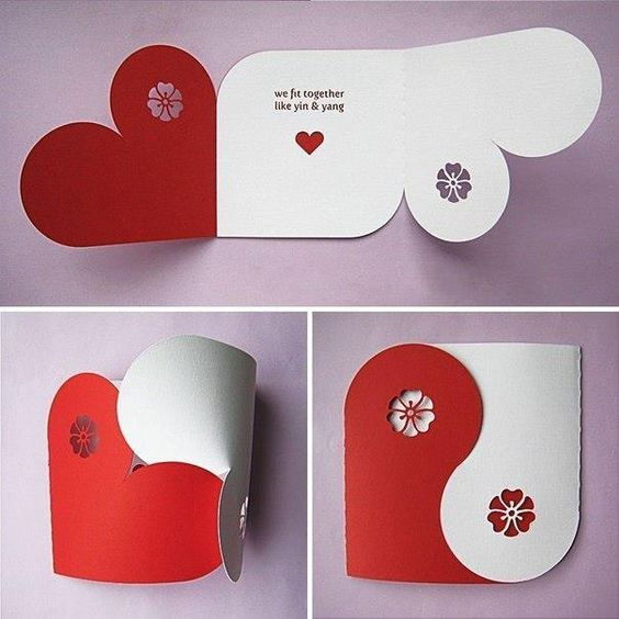 Creative Ideas, Interesting Greeting Card for Lovers Day, Valentine's Day card