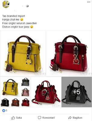contoh kata kata promosi tas dan dompet