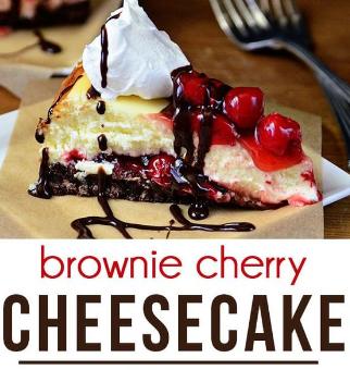 BROWNIE CHERRY CHEESECAKE