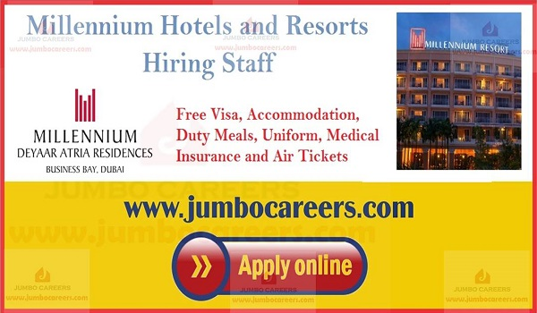 5 star hotel jobs with accommodation, Gulf restaurant jobs with salary and benefits,