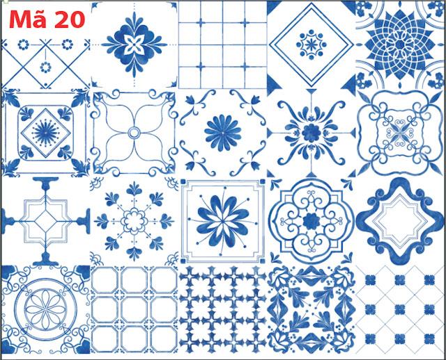 Decal gạch bông 20