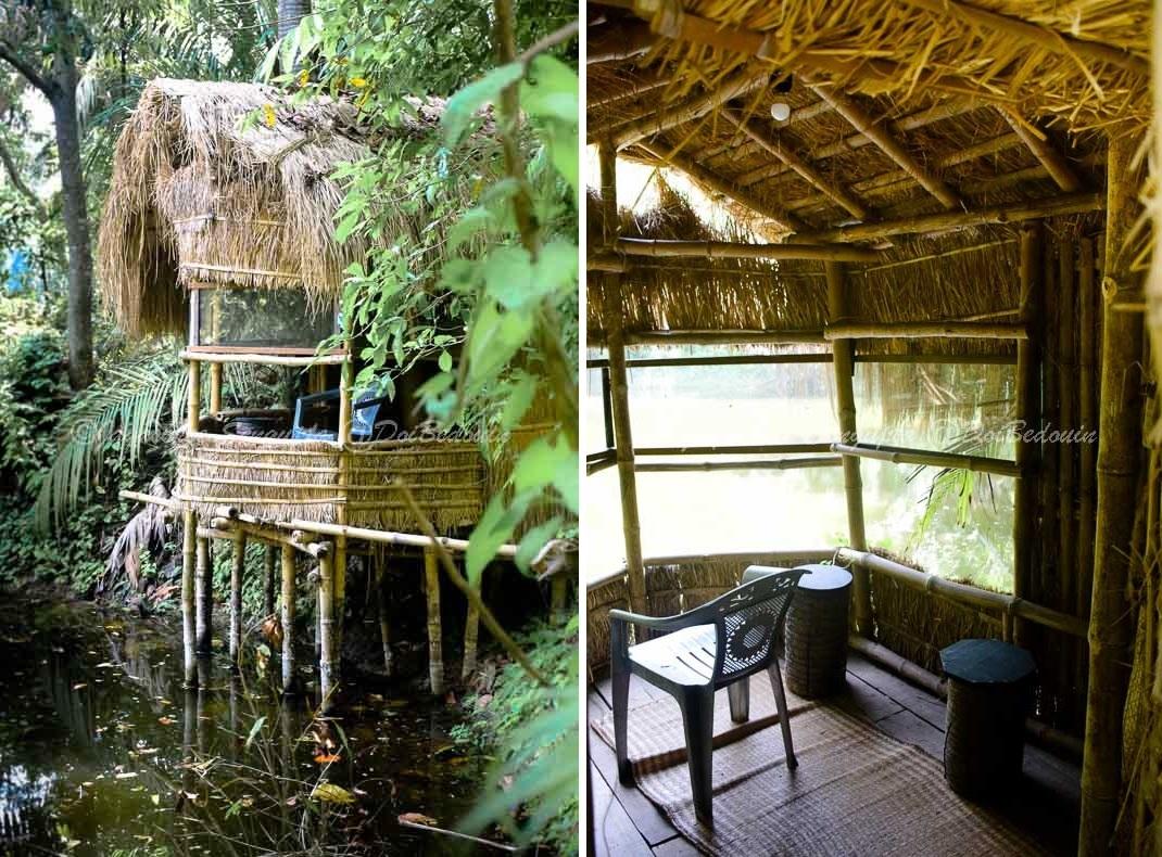 The bamboo-straw made watchtower doibedouin baghrol basa