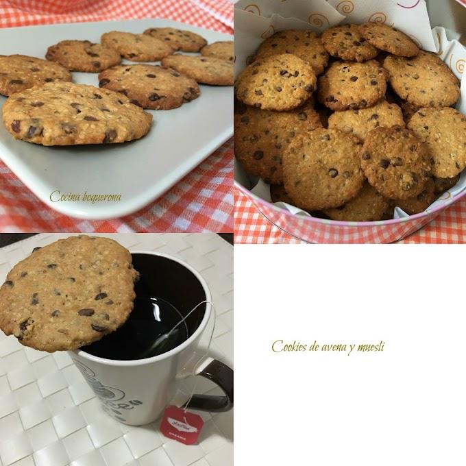 Cookies de avena y muesli