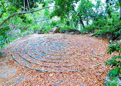 #labyrinth, labyrinth, #payabay, #payabayresort, wellness, mystical, meditation, nature, meditational labyrinth