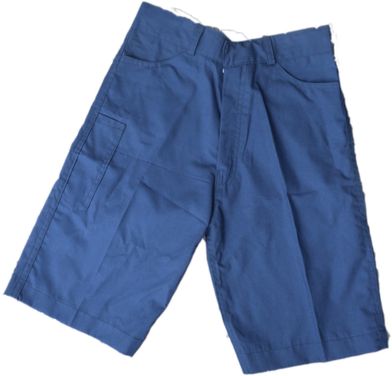 celana biru pendek uk s,m