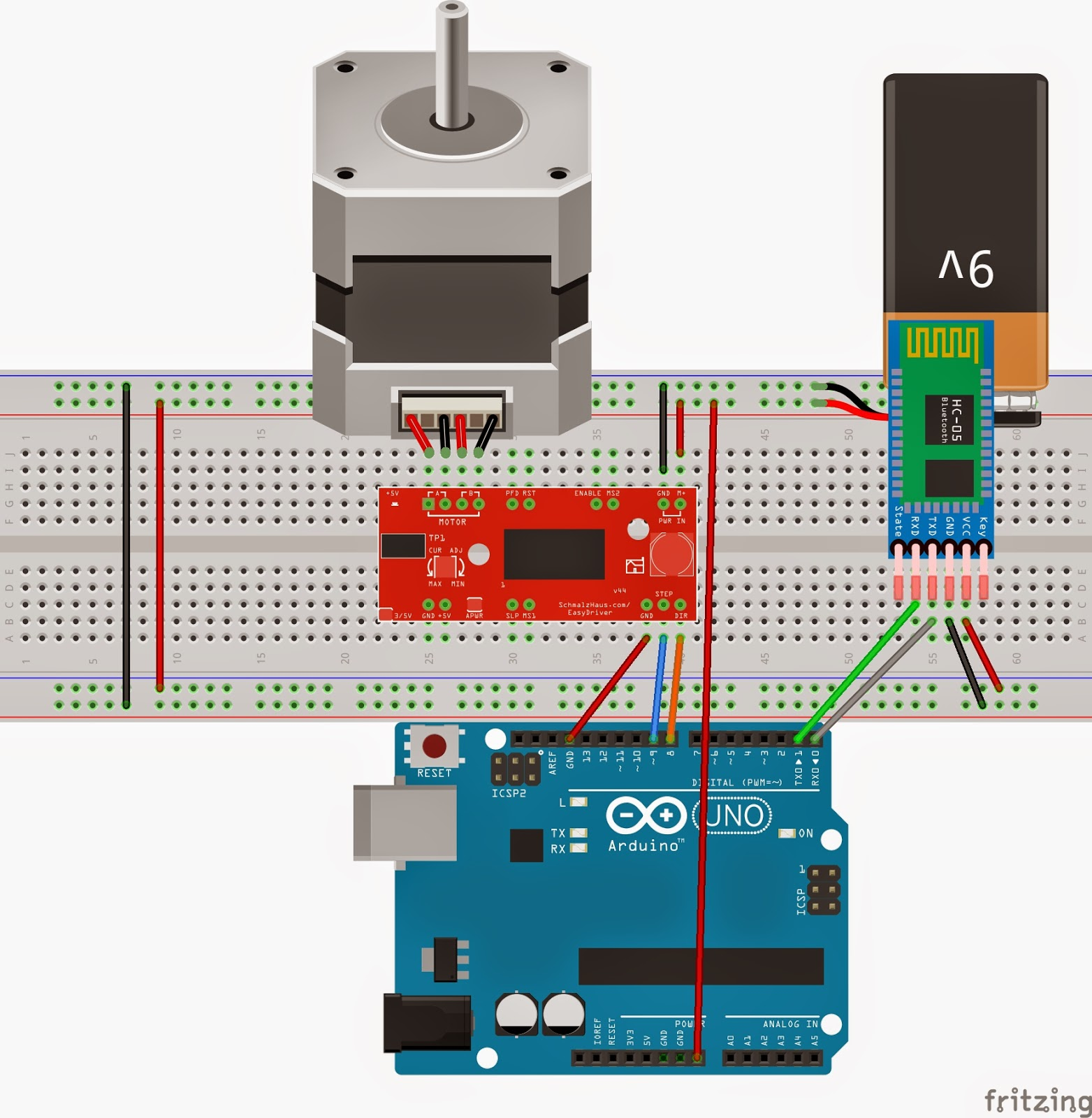 MITappinventor: Control stepper Motor from android app