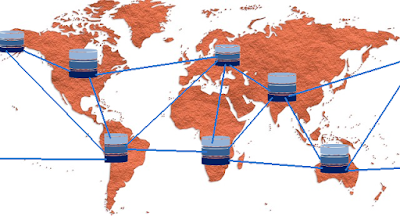 Cloud web hosting connects servers across the globe.