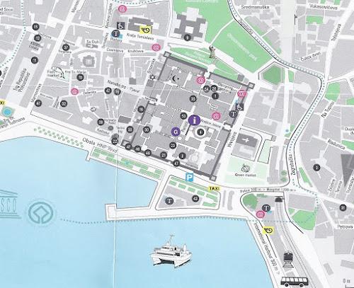 Split Croatia tourist map