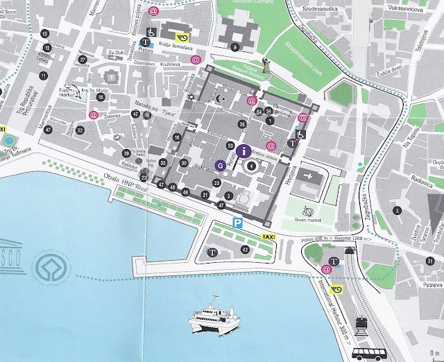 Split Croatia tourist map