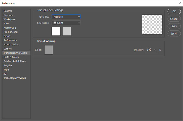 How To Customize Transparency Grid Settings in Photoshop CC